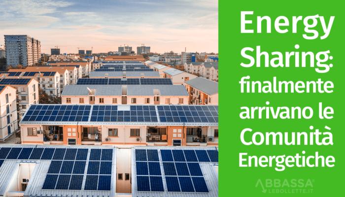 fotovoltaico condiviso comunitá energetiche